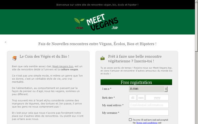 site rencontre végétarien gratuit