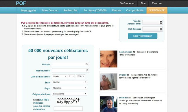 avis site de rencontres pof)