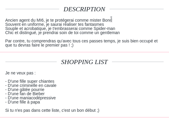 Description site de rencontre : 10 exemples qui cartonnent