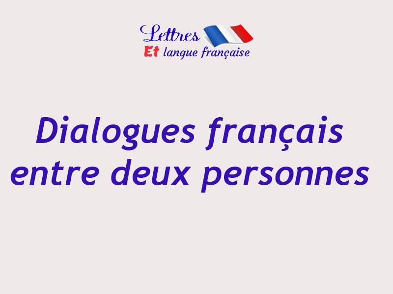 dialogue entre deux personnes qui se rencontre en anglais)