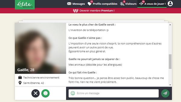 probleme site elite rencontre