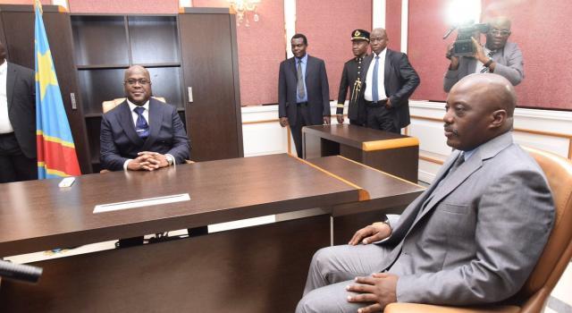 tshisekedi rencontre kabila au palais de la nation)