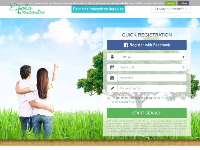 site rencontre ecolo gratuit
