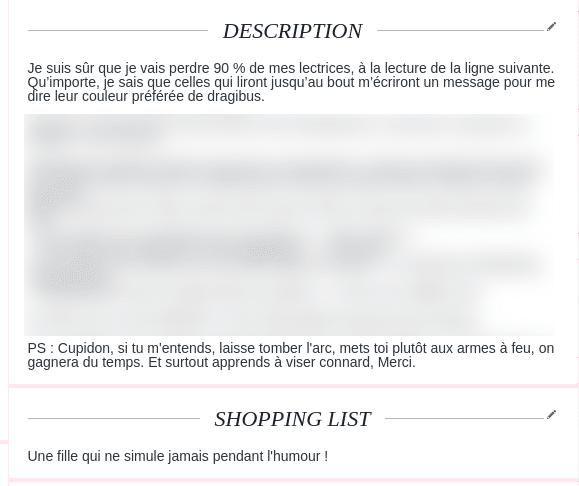 exemple de profil sur site de rencontre