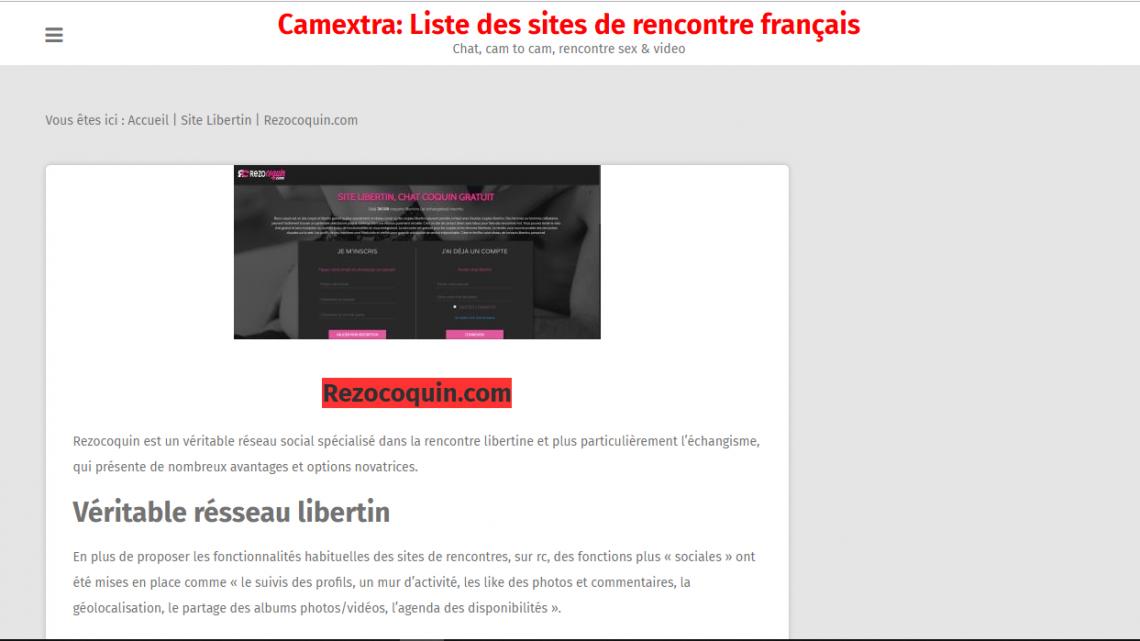 liste des sites de rencontres français