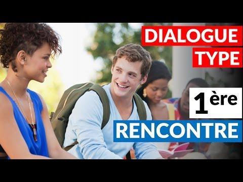 dialogue entre deux personnes qui se rencontre en anglais