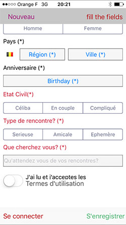 application rencontre iphone suisse)