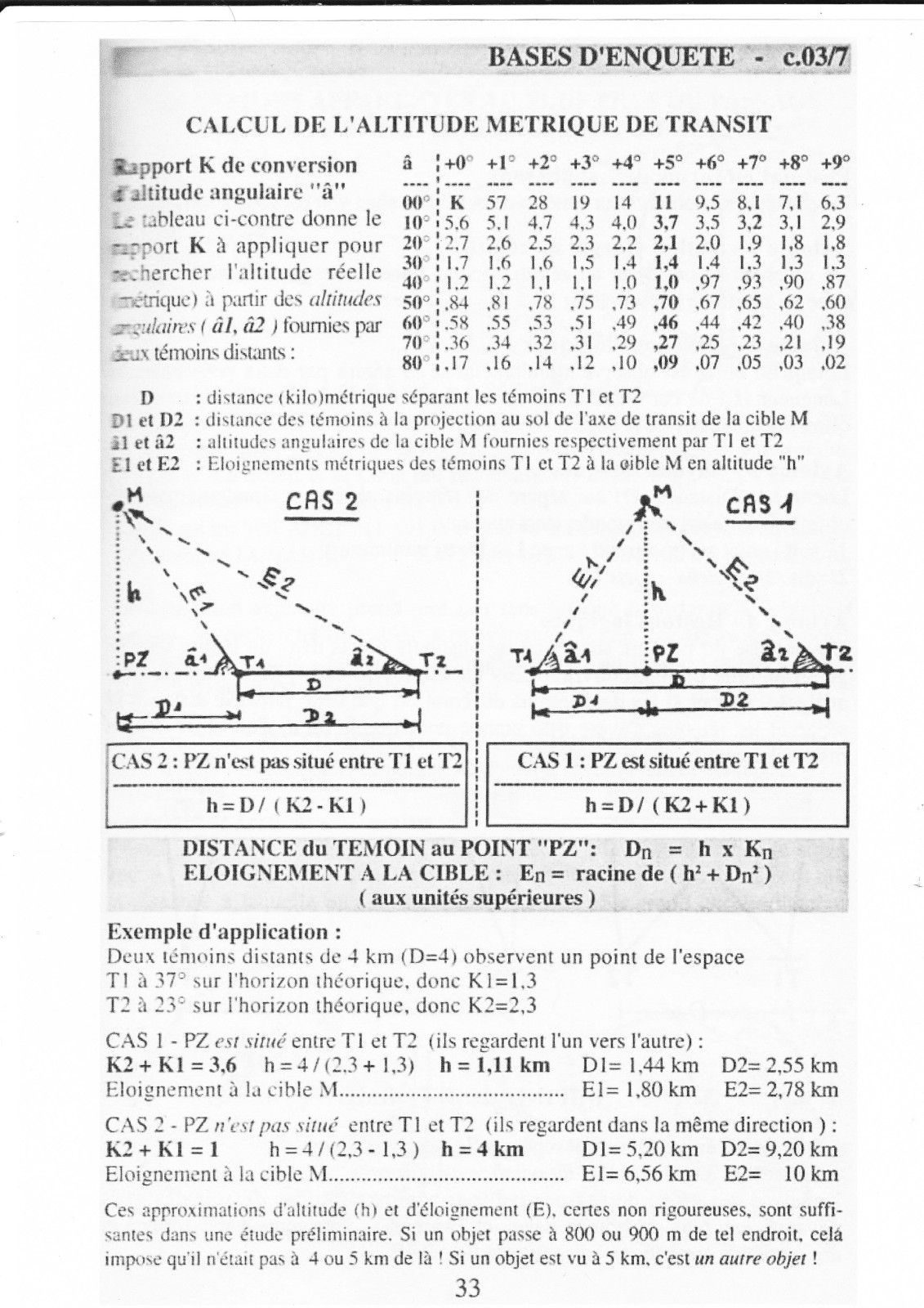 classification des rencontres ovnis)