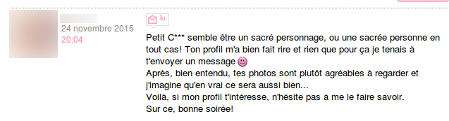 comment faire une description de soi site de rencontre