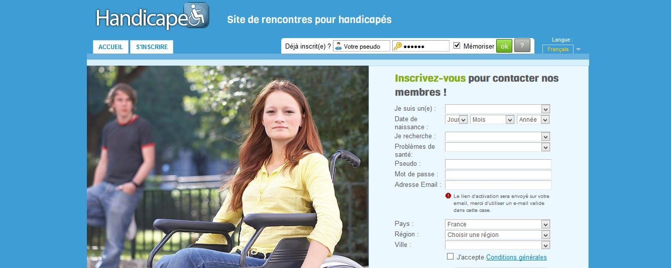 Site de rencontré dédié aux personnes handicapés