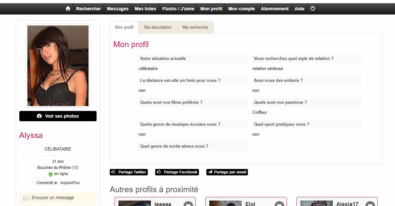 profil site rencontre)