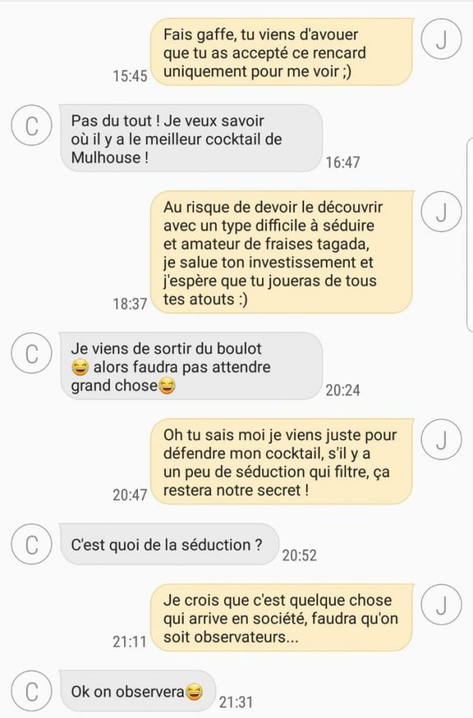 SMS - drague