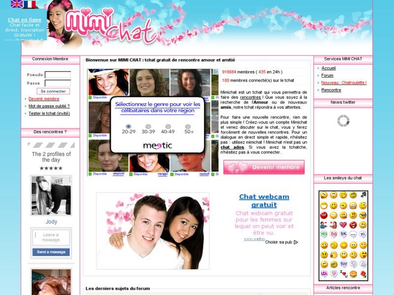 Tchat et rencontres en ligne