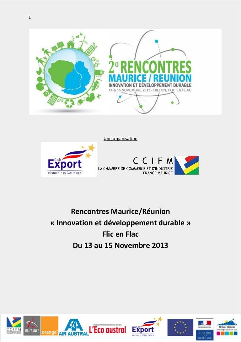 Rencontres Réunion/Maurice: