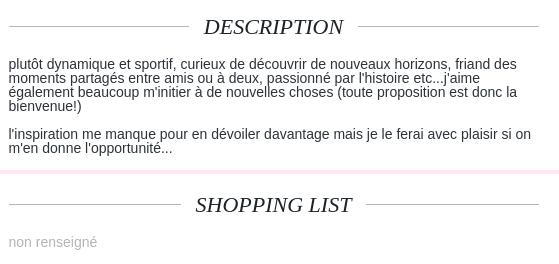 exemple message profil site de rencontre)