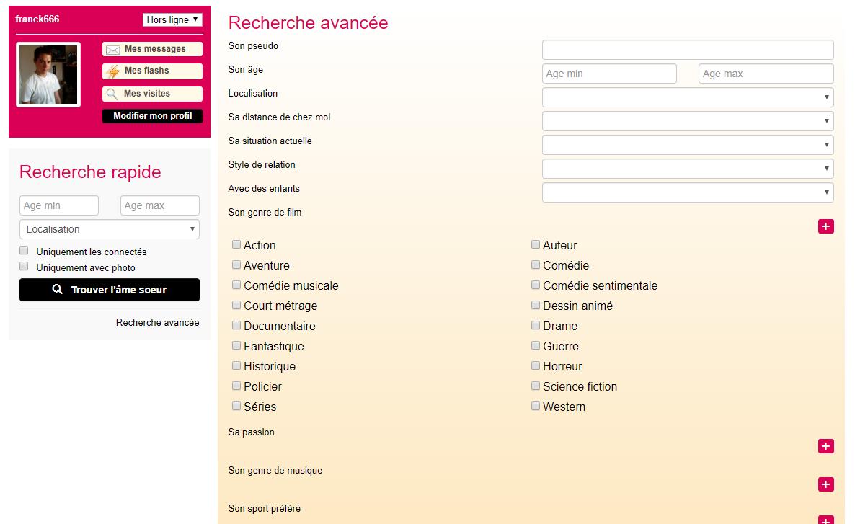 moteur de recherche de site de rencontre)