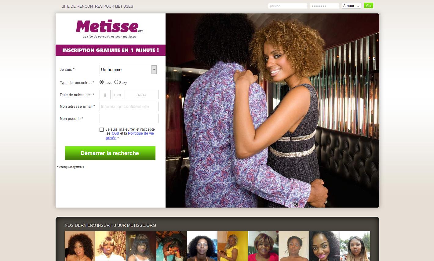 Site de rencontre gratuit femme metisse recevoir
